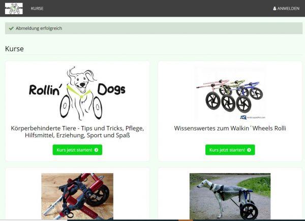 Videoanleitungen Versorgung gelähmter Hunde