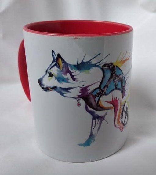 Tasse Schäferhund im Rolli